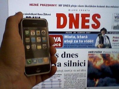 První iPhone v ČR