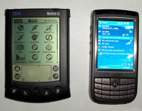 Palm a Pocket PC