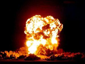 Výbuch bude v pět