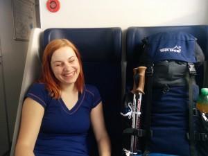 Ve vlaku je ještě veselo