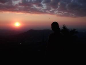 Západ slunce na Smrku